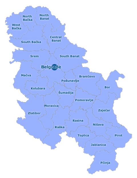 Serbia Mapa de la Moda